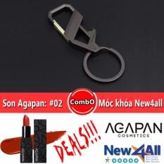 Bán Son Agapan 02 Pit A Pat Đỏ Gạch Moc Khoa Đeo Balo New4All Hợp Kim Cao Cấp Nguyên