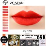 Son Agapan 4 Pit A Pat Matte Lipstick Love Đỏ Hồng Nồng Nan Quý Phai Tặng Moc Khoa Tinh Yeu I Love You Hồ Chí Minh