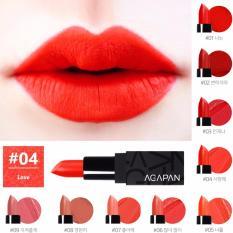 Ôn Tập Son Agapan Red Love Số 04 Dạng Thỏi Đỏ Cam Pit A Pat Matte Lipstick