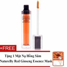 Son Bong Dạng Gel Beauskin Crystal Shining Lip Gloss 6Ml No 702 Passion Orange Hang Chinh Hang Tặng 1 Mặt Nạ Hồng Sam Natureby Red Ginseng Essence Mask Rẻ