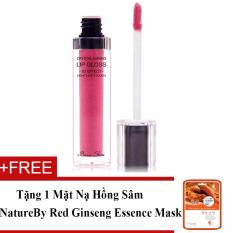 Bán Mua Trực Tuyến Son Bong Dạng Gel Beauskin Crystal Shining Lip Gloss 6Ml No 712 Hot Pearl Pink Hang Chinh Hang Tặng 1 Mặt Nạ Hồng Sam Natureby Red Ginseng Essence Mask