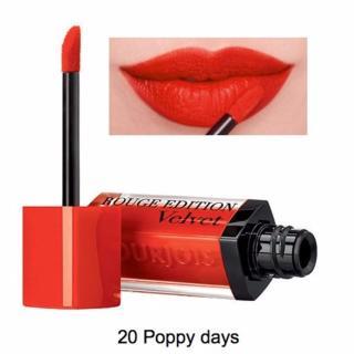 Son Bourjois Rouge Edition Velvet 7.7ml màu 20 - Poppy days - Cam đỏ rực cháy đem mê thumbnail