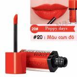 Bán Son Bourjois Rouge Edition Velvet 7 7Ml Mau 20 Poppy Days Mau Cam Đỏ Có Thương Hiệu Rẻ