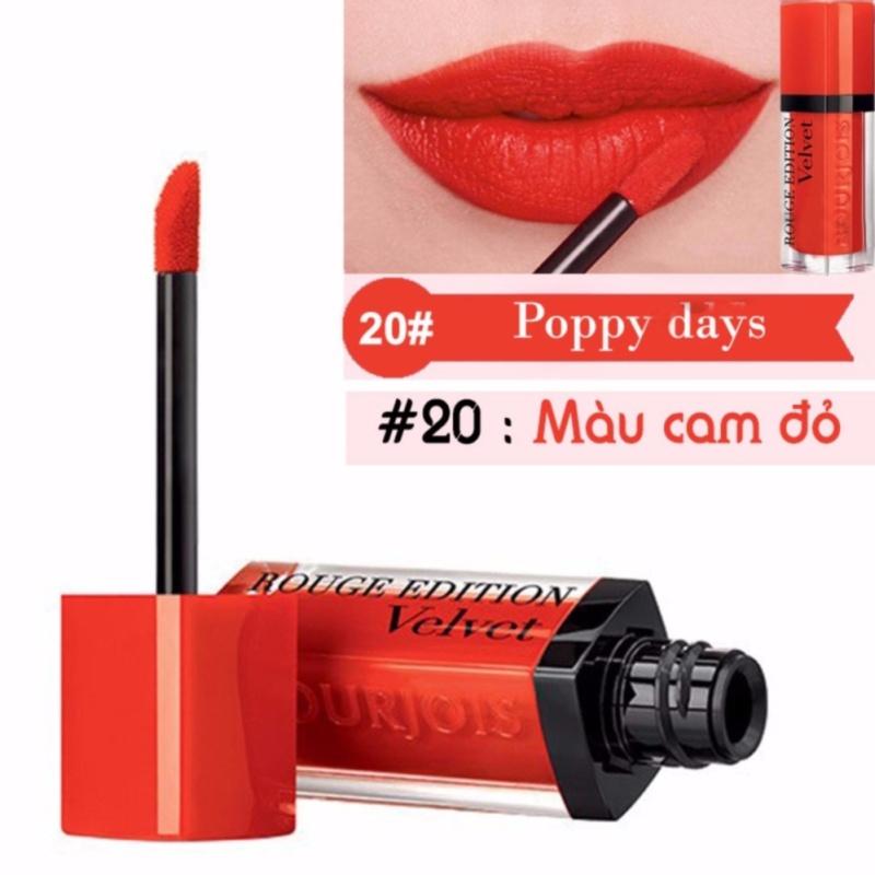 Son Bourjois Rouge Edition Velvet 7.7ml màu 20 - Poppy days - Màu cam đỏ