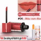 Chiết Khấu Son Bourjois Rouge Edition Velvet Mau 04 Peach Club Mau Cam Đao Tặng Son Dưỡng Moi Rebirth Uc