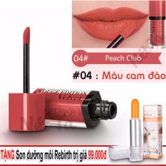 Giá Bán Son Bourjois Rouge Edition Velvet Mau 04 Peach Club Mau Cam Đao Tặng Son Dưỡng Moi Rebirth Uc Mới