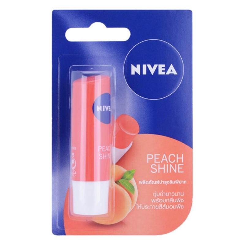 Son Dưỡng Ẩm Nivea Hương Đào Peach Shine 4,8g (Thái Lan) cao cấp