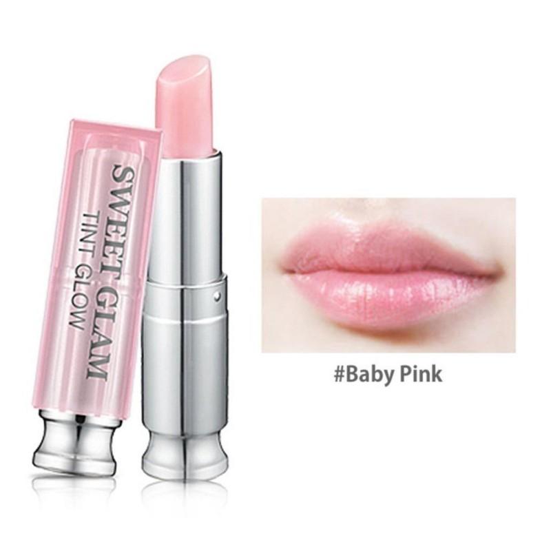 Son dưỡng môi có màu Secret Key Sweet Glam Tint Glow 3.5g #Baby Pink (Hồng nhạt) cao cấp