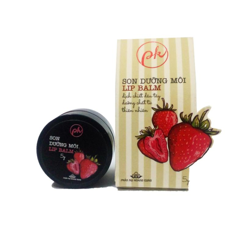Son dưỡng môi Phấn Nụ Hoàng Cung dâu tây Lip Balm (Đỏ) cao cấp