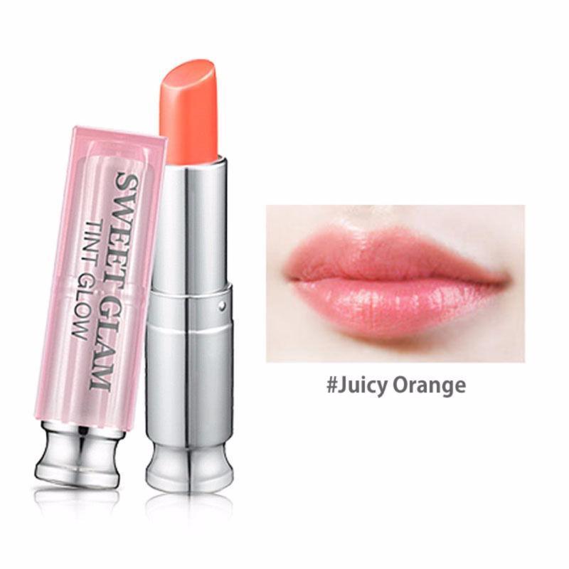 Son dưỡng môi Secret Kiss Sweet Glam Tint Glow 3.5g #Juicy Orange (Cam đào)
