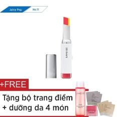 Giá Bán Son Hai Tong Mau Laneige Two Tone Lip Bar No 11 Juicy Pop 2G Tặng Mặt Nạ Moi 3G Nước Tẩy Trang Mắt Moi 25Ml Kem Nền 1Ml X 3 Kem Lot Hiệu Chỉnh Sắc Da 1Ml X 3 Nguyên