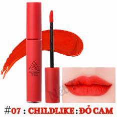 Giá Bán Son Kem Li 3Ce Velvet Lip Tint Mau 07 Childlike Đỏ Cam Mới