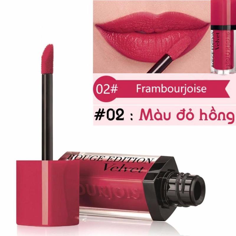 Son kem lì BJ Edition Velvet 7.7ml màu 02 - Màu đỏ hồng- Pháp nhập khẩu