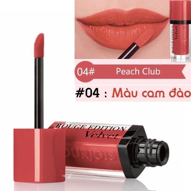 Son kem lì Bourjois Rouge Edition Velvet 7.7ml màu 04 - Peach Club - Màu cam đào- Pháp