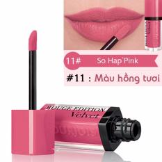 Son kem lì Bourjois Rouge Edition Velvet 7.7ml màu 11 - So Happink - Màu hồng cam- Pháp