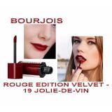 Chiết Khấu Sản Phẩm Son Li Bourjois Rouge Edition Velvet 19 Jolie De Vin Đỏ Rượu Vang Cực Ki S*xy