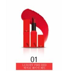 Son Li Co Dưỡng The Skin Face Luxury Bote Lipstick 01Luxury Fire Red Mau Đỏ Hồng Phien Bản Valentine Vỏ Đỏ The Skin Face Chiết Khấu 50