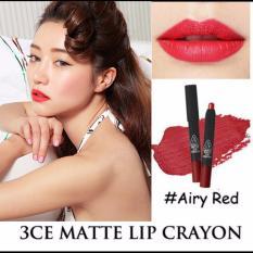 Mua Son Li Dạng But Vặn Tiện Dụng 3Ce Matte Lip Crayon Airy Red Rẻ Trong Vietnam