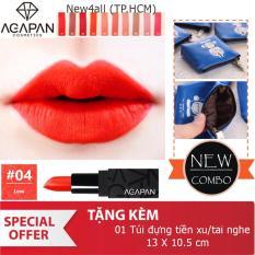 Bán Son Li Dạng Thỏi Agapan 04 Love Lipstick Tặng Vi Bop Đựng Tai Nghe Tiền Xu Dễ Thương Người Bán Sỉ