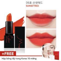 Giá Bán Son Li Lau Troi Musecolor Redlabel Mini Lipstick 06 Sunsetred Mới Rẻ