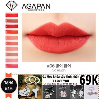Son lỳ dạng thỏi Agapan 06 Matte Lipstick (Pit A Pat) + Tặng móc khóa đôi cực chất thumbnail
