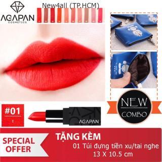 Son môi AGAPAN 01 Matte Pit A Pat Lipstick + Tặng ví bóp đựng tai nghe tiền xu dễ thương thumbnail