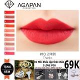 Son Moi Agapan 10 Matte Pit A Pat Lipstick Tặng Moc Khoa Tinh Yeu Nguyên