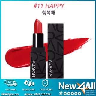 Son môi Agapan Ver.2 11 Pit A Pat Matte Lipstick 11 Happy + Tặng móc khóa tình yêu trị giá 69K thumbnail