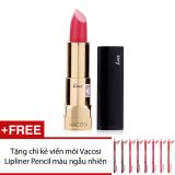 Giá Bán Son Moi Vacosi Love Luxury Lipstick Rd311 Gorgeous Red 3 7G Hang Chinh Hang Tặng Chi Kẻ Viền Moi Vacosi Lipliner Pencil Mau Sắc Ngẫu Nhien Hang Chinh Hang Rẻ Nhất