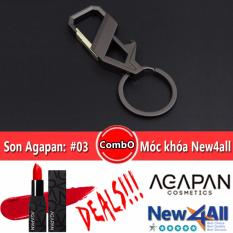 Cửa Hàng Son Thỏi Agapan 03 Pit A Pat Đỏ Hồng Moc Khoa Đeo Balo New4All Hợp Kim Cao Cấp Agapan Trực Tuyến