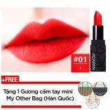 Giá Bán Son Thỏi Li Agapan Pit A Pat Matte Lipstick 3 5G 01 I Đỏ Cam Tặng 1 Gương Cầm Tay Mini My Other Bag Han Quốc Mới