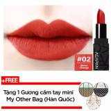 Son Thỏi Li Agapan Pit A Pat Matte Lipstick 3 5G 02 Never Change Đỏ Gạch Tặng 1 Gương Cầm Tay Mini My Other Bag Han Quốc Trong Hồ Chí Minh