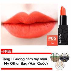 Son Thỏi Li Agapan Pit A Pat Matte Lipstick 3 5G 05 You Cam Đao Tặng 1 Gương Cầm Tay Mini My Other Bag Han Quốc Vietnam Chiết Khấu 50