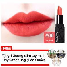 Son Thỏi Li Agapan Pit A Pat Matte Lipstick 3 5G 06 So Much Hồng Cam Coral Tặng 1 Gương Cầm Tay Mini My Other Bag Han Quốc Vietnam Chiết Khấu