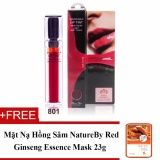 Chiết Khấu Son Tint Dạng Gel Lau Troi Beauskin Darling Girls Lip Tint 6Ml No 801 Red Orange Hang Chinh Hang Tặng 1 Mặt Nạ Hồng Sam Natureby Red Ginseng Essence Mask Beauskin
