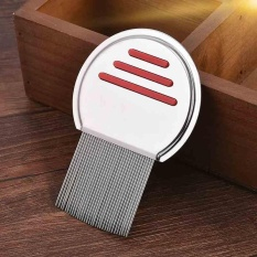 Hình ảnh Stainless Steel Pet Cat Dog Nits & Lice Removal Comb Brush Terminator Cleaner - intl