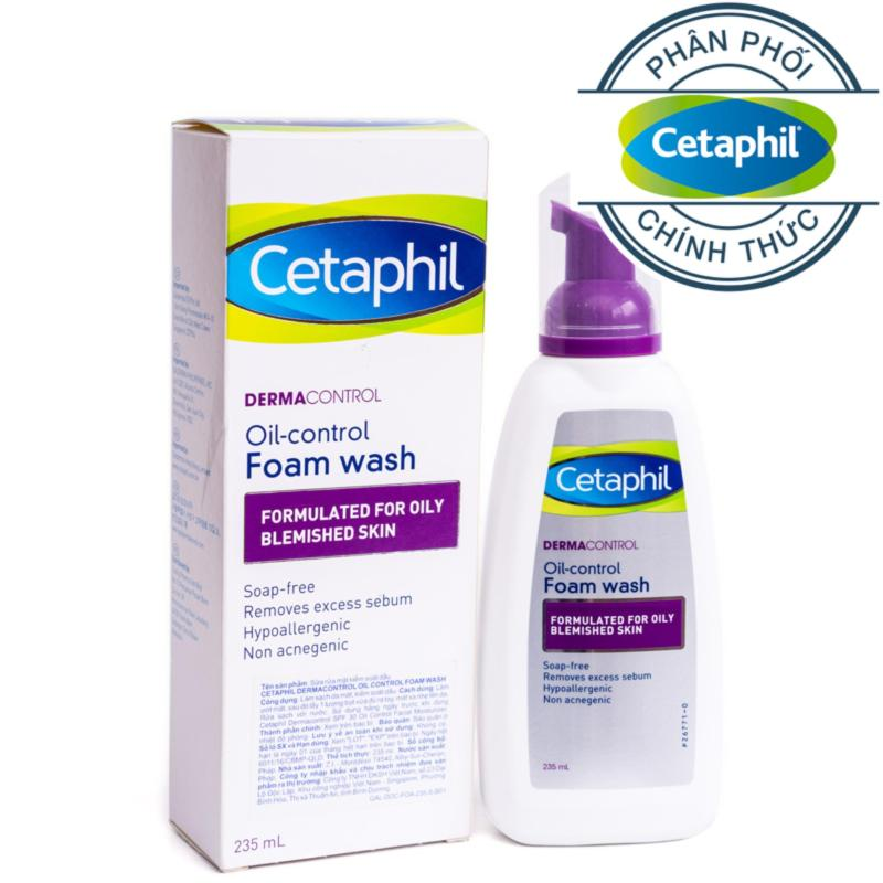 Sữa rửa mặt da nhờn mụn Cetaphil Dermacontrol Foam Wash 235ml nhập khẩu
