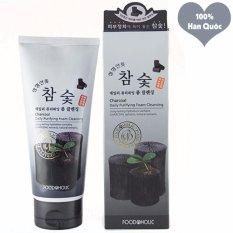 Hình ảnh Sữa Rửa Mặt Hút Sạch Bụi Độc Tố Thanh Lọc Da Foodaholic Charcoal Foam Cleansing Hàn Quốc 180ml - Hàng Chính Hãng