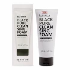 Chiết Khấu Sữa Rữa Mặt Kiểm Soat Nhờn Cho Da Dầu Beauskin Black Pure Cleansing Foam 180Ml Hang Chinh Hang Có Thương Hiệu