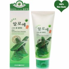 Mua Sữa Rửa Mặt Lo Hội Can Bằng Độ Ẩm Cho Da Foodaholic Aloe Smoothie Foam Cleansing Han Quốc 180Ml Hang Chinh Hang Foodaholic Rẻ