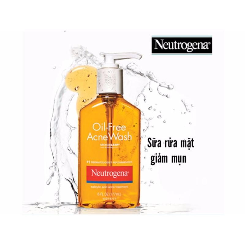 Sữa rửa mặt Neutrogena Oil-Free Acne Wash 177ml nhập khẩu