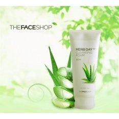Sữa Rửa Mặt Sát Khuẩn Mụn Chiết Suất Từ Nha Đam The Faceshop Herb Day 365 Aloe Cleansing Foam 170ml tốt nhất