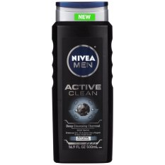 Sữa tắm cho nam giới NIVEA Men Active Clean Natural Charcoal Body Wash 500ml (Mỹ)