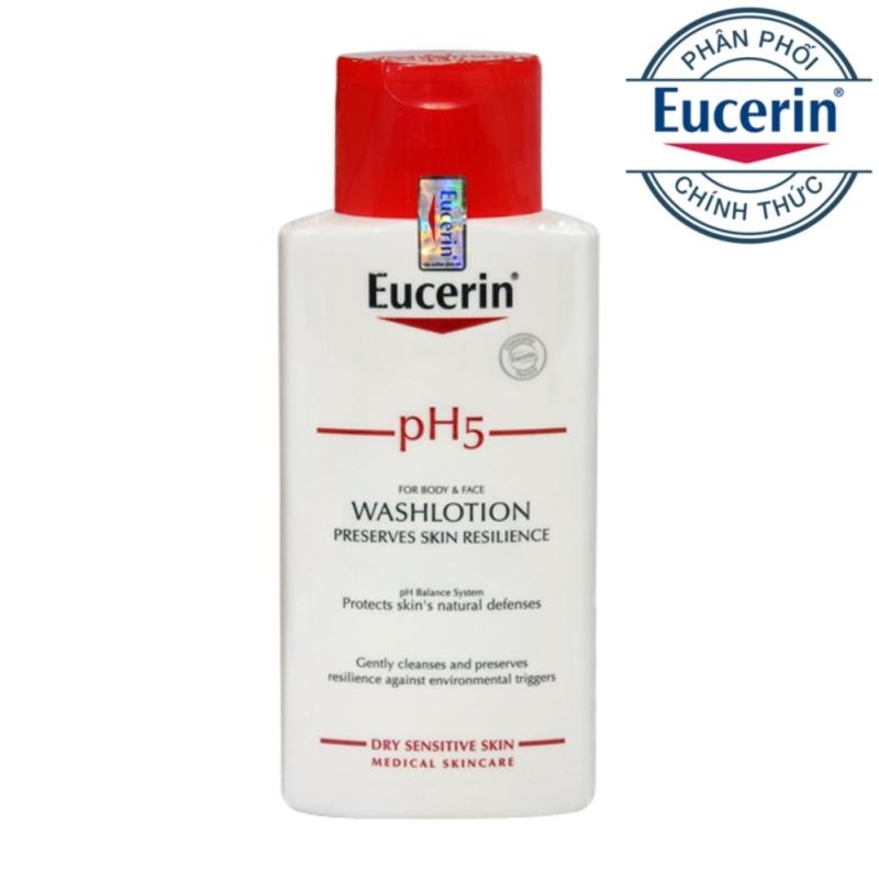 Sữa tắm dành cho da nhạy cảm Eucerin pH5 Washlotion 200ml nhập khẩu