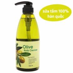 Ôn Tập Sữa Tắm Dưỡng Da Mềm Mịn Tinh Chất O Liu Welcos Olive Body Cleanse Han Quốc 740Ml Hang Chinh Hang