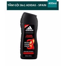 Hình ảnh Sữa tắm gội rửa mặt 3 trong 1 cho nam 400ml Adidas 3 in 1 Team Force