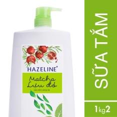 Hình ảnh Sữa tắm Hazeline matcha & lựu đỏ 1.2kg