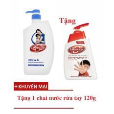 Sữa Tắm Khang Khuẩn Lifebuoy Xanh Tinh Chất Sữa Va Hoạt Chất Active 5 Chai 850G Tặng Nước Rửa Tay 120G Chiết Khấu Hồ Chí Minh