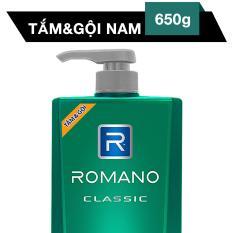 Giá Bán Tắm Gội 2 Trong 1 Romano Classic 650G Romano Vietnam