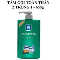 Mã Khuyến Mại Tắm Gội Toan Than 2Trong1 Cao Cấp Hương Nước Hoa Romano 650G Romano